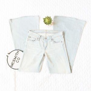 7FAM | Super Flare Denim Jeans in Light Wash